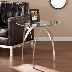 Instantly elevate your living room by bringing in this contemporary Upton Home end table. The striking design combines organic shapes with a silky, satin nickel finish for midcentury modern allure. Contemporary End Tables, Modern End Tables, Sofa End Tables, Contemporary Style, Furniture For Small Spaces, Living Room Furniture, Multifunctional Furniture, Nesting Tables, Furniture Deals