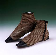 Women's side-laced checked wool boots, 1850