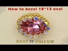 For bezeling the oval you need: oval swarovski 3 mm bicones swarovski Seed beads I used Seed beads Beading Projects, Beading Tutorials, Beaded Jewelry Patterns, Beading Patterns, Baubles And Beads, Jewelry Making Tutorials, Handmade Jewelry, Diy Jewellery, Bead Weaving