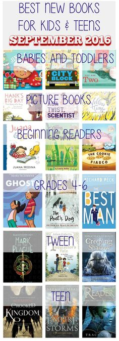 The best new books for kids of all ages released in September 2016.