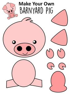 Easy DiY Pig Craft Activity for Preschool Kids - Simple Mom Project - Farm Animal Crafts Kids Crafts, Easy Preschool Crafts, Crafts For Teens To Make, Toddler Crafts, Craft Activities, Toddler Activities, Preschool Farm Theme, Free Preschool, Creative Crafts