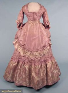 LAVENDER BROCADE RECEPTION GOWN, c. 1870... I would love to go back in time and wear these dresses!!