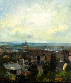 View of Paris from near Montmartre / Vincent van Gogh - 1886