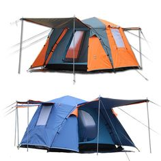 112.37$  Buy here - http://aliolz.worldwells.pw/go.php?t=32664647258 - Large outdoor recreation camping tent 3-4 person tourist party awning automatic tent camp china barraca de acampamento tente 112.37$