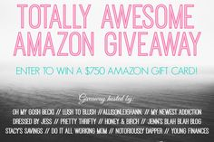Totally Awesome Amazon Giveaway - October