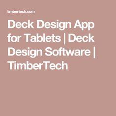 Deck Design App for Tablets | Deck Design Software | TimberTech