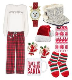 """""""Christmas morning and chill"""" by josieagnew ❤ liked on Polyvore featuring Wildfox, J.Crew, Accessorize, Primitives By Kathy, Casetify, women's clothing, women, female, woman and misses"""