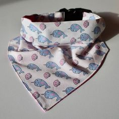 Pink and Blue Narwhal Dog Collar  Bow Tie  Bandana  Handmade dog collars and bow ties for your Trendy Pet by MyTrendyPooch #dogcollars #catcollars #dogs #cats #handmade #designer #fashionable #dogbowties #bowties #bandana #doglead