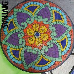Items similar to Mosaic mandala, shown. Mosaic Diy, Mosaic Glass, Mosaic Tiles, Glass Art, Mosaics, Tiling, Mosaic Designs, Mosaic Patterns, Mosaic Projects