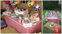 Decoración de cumpleaños con animales de la granja y de la selva ~ Mimundomanual Baby Boy 1st Birthday, Happy Birthday Me, Cowgirl Party, Farm Party, Farm Theme, Ideas Para Fiestas, Animal Party, Holidays And Events, Birthday Party Themes