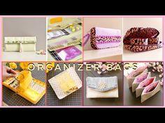 4 DIY ORGANIZER BAGS | Upcycle Craft | Bag Tutorial - YouTube Bag Organization, Diy Organizer, Craft Bags, Upcycled Crafts, Diy Storage, Pouch, Youtube, Purses, Box