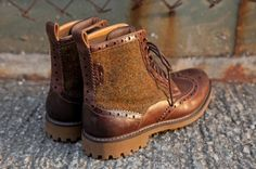 Harris Tweed x Clarks Montacute Lord Boots OH GAWD