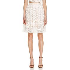 3186fb55172be Lucy Paris Lace Skirt - 100% Bloomingdale s Exclusive (£50) ❤ liked on