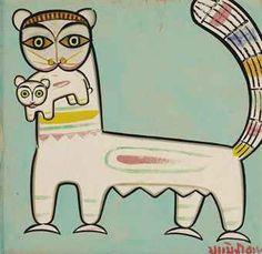 JAMINI ROY (1887-1972) | Untitled (Cats) | Modern  Contemporary Indian Art