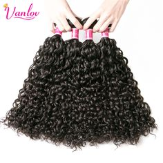 Vanlov Peruvian Water Wave Hair Bundles 100% Curly Human Hair Extension Non Remy 100G Natural Color Double Weft Free Shipping