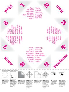 downloadable customizable printable paper fortune teller template event ideas pinterest. Black Bedroom Furniture Sets. Home Design Ideas