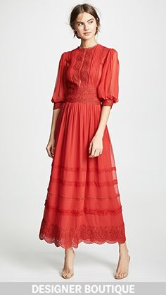 Great for Costarellos Sleeve Midi Lace Dress Womens Dresses from top store Lace Midi Dress, Lace Dresses, Floral Maxi Dress, Casual Dresses, Cocktail Dresses With Sleeves, Midi Cocktail Dress, Greece Fashion, London College Of Fashion, Luxury Dress