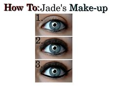 """""""How to:Jade's Make-up"""" by thejadewest ❤ liked on Polyvore featuring art, jade west, tutorial, how to, victorious and make up"""