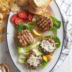 Chicken Caesar Burger  Blend chicken breast, onion, parsley, and anchovies in a food processor to make the patties for this juicy burger. Spread Caesar dressing on the bun, and top it with a sprinkle of grated Parmesan.