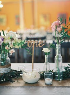 lasercut table number - photo by Nicole Berrett Photography http://ruffledblog.com/beautiful-tulum-destination-wedding