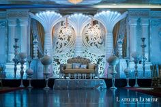 """The Inspiration Becomes The Theme – Ĺ Chatèau Themed Event  Photography by – L'Atelier Lumière (www.latelierlumiere.com)  The Pillars, the chandeliers, the wall …. what could be more perfect for a theme than the Ĺ Chatèau Themed Event. """"The key word we associated with Ĺ Chatèau Themed Event is AWE and we want to translate it to every element in a very distinct way."""""""