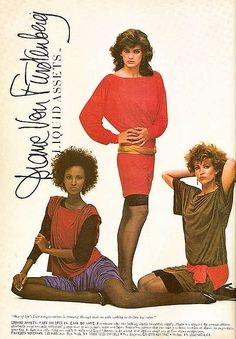 1982 Diane Von Furstenberg Liquid Assets Knits