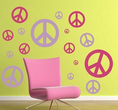 Peace Sign Wall Decal Pack  Wall Decals www.tradingphrases.com