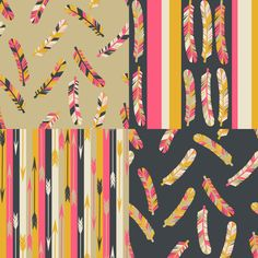 Paper Sparrow: Feathers and Arrows - Pattern Collection