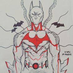 Instagram : @100daysofsketching  Batman Beyond quick sketch