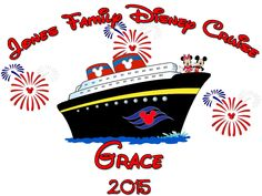Personalized Family Vacation Disney Cruise Shirts T-shirt Mickey Minnie Cute!