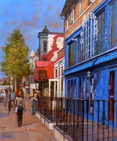 Painting of ADAMS MORGAN BY RULEI BU, Washington DC