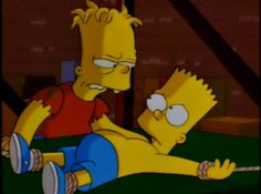 House of horror The Simpson's, Bart's evil twin