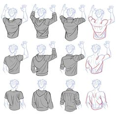 Manga Drawing Tips Clothes wrinkle reference Drawing Reference Poses, Drawing Poses, Design Reference, Drawing Tips, Drawing Ideas, Back Drawing, Shirt Drawing, Drawing Drawing, Fabric Drawing