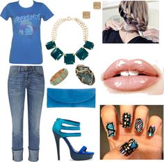 """Blue is the color of the season for AW12 :)"" by threadinducedeuphoria on Polyvore"
