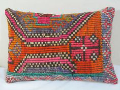 "14""x20"" Turkish Decorative CICIM Kilim Pillow Cover"