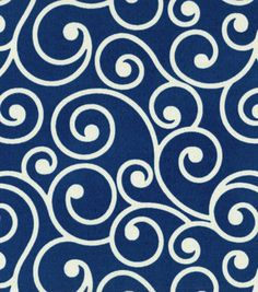 Outdoor Fabric-Better Homes & Garden Ornament Navy, J-Ann Fabrics $8 on sale right now