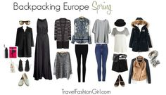Backpacking in Europe this Spring? Here's your ultimate packing list including weather summary, travel outfits, and capsule wardrobe suggestions!
