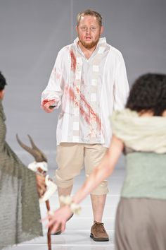 """Macbeth just killed King Duncan.""  Lodewyk Ludik  Designer: Cara Delport  Photo: SDR Photo"