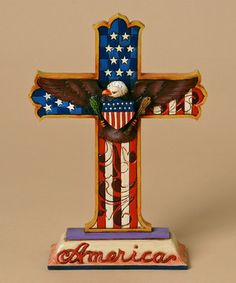Love this Patriotic Cross Figurine by Jim Shore on #zulily! #zulilyfinds