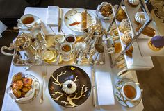 Tea Time at the restaurant Le Dali at the hotel Meurice Paris in the Aux Oiseaux Collection