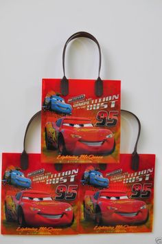 12 Pc Disney Cars Goodie Bags Party Favors Candy Loot Pixar Treat Birthday Bag
