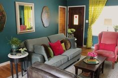 """Kelly's """"Deep Teal with a Funky Vintage Vibe"""" Room — Room for Color Contest"""
