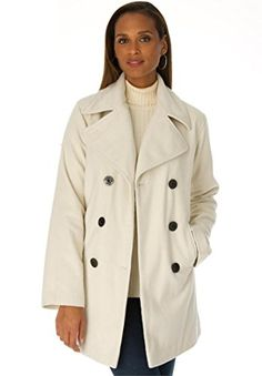 b84a2158987 Our classic plus size peacoat is the perfect top layer for modern polish  all winter long.