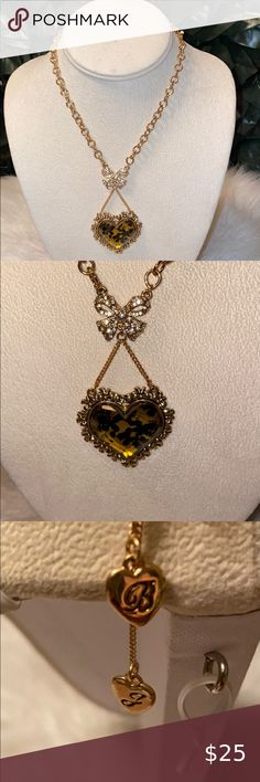 "VALENTINE CRYSTAL HEART//Stars//Moon// Hearts 28/"" Pendant Necklace Betsey Johnson"