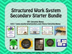 This bundle includes the materials to set up structured work systems within the classroom and tasks to put in them. All the items in this kit can be reproduced for as many systems as you need within your classroom. $25 (30% less than if products bought separately).