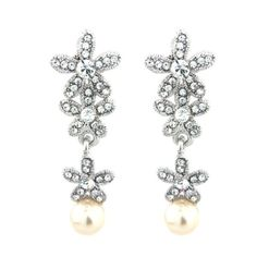 Crystal Starlet Floral Bridal Earrings