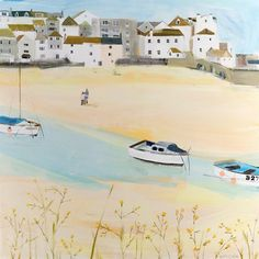 St Ives Bay Canvas at Whistlefish - handpicked contemporary & traditional art that is high quality & affordable. St Ives Bay, Oil On Canvas, Canvas Art, Affordable Art, Traditional Art, Art Prints, Contemporary, House Styles, Gallery