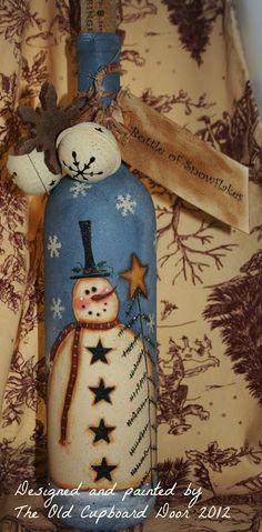 The Old Cupboard Door Bottle of snowflakes