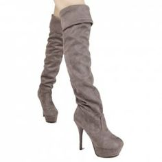 $34.91 Simple Women's Thigh Boots With Solid Color and Sexy High Heel Design