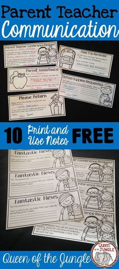 FREE Parent Conference Forms! Two versions are included, a one-page